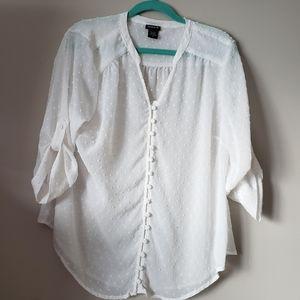 Torrid White Chiffon blouse